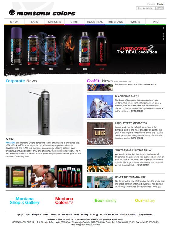 Новый сайт montanacolors com